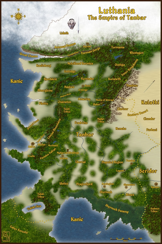 Map of the Empire of Tanbar